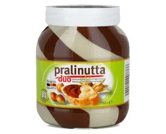 Паста Pralinutta Duo шоколадна з молочним какао і лісовим горіхом, 750г
