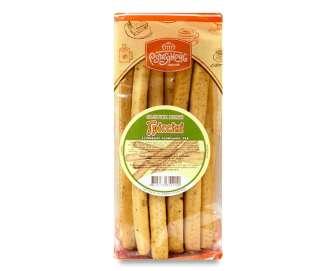 """Палички хлібні """"Рум'янець"""" гріссіні з італійськими травами, 200г"""
