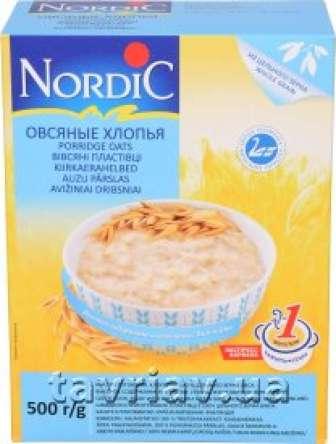 Пластівці Nordic 500 г карт. Вівсяні