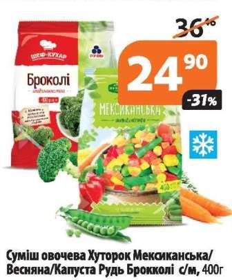 Капуста брокколи, Овощные смеси