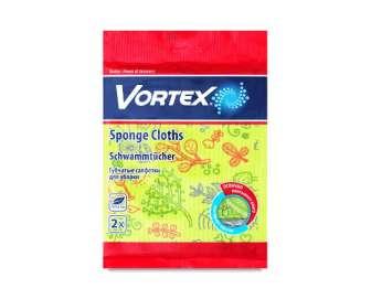Серветки для прибирання Vortex целюлозні з принтом, 2шт/уп