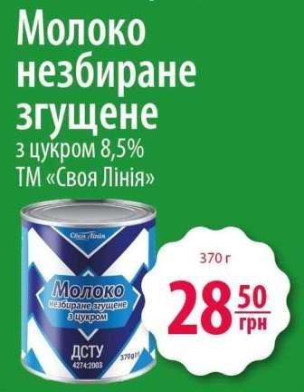 Консервоване і сухе молоко (згущене молоко)