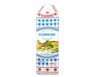 """Молоко ультрапастеризоване """"Селянське"""" """"Родинне"""" 2,5%, 1500г"""