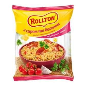 Вермішель швидкого приготування  зі смаком сиру та бекону 60г   ТМ Ролтон
