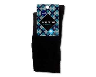 """Шкарпетки чоловічі """"Премія"""" чорні d1, р. 25, пара"""