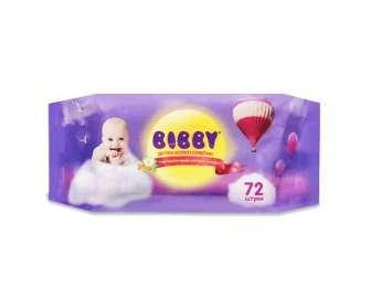 Серветки вологі Bibby дитячі, 72шт/уп