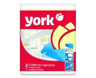 Серветка York губчаста, 3шт