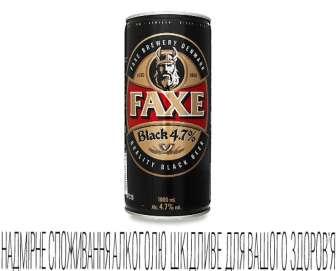 Пиво Faxe Black темне 4,7%, 1л
