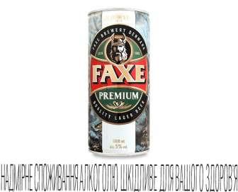 Пиво Faxe Premium світле, 1л