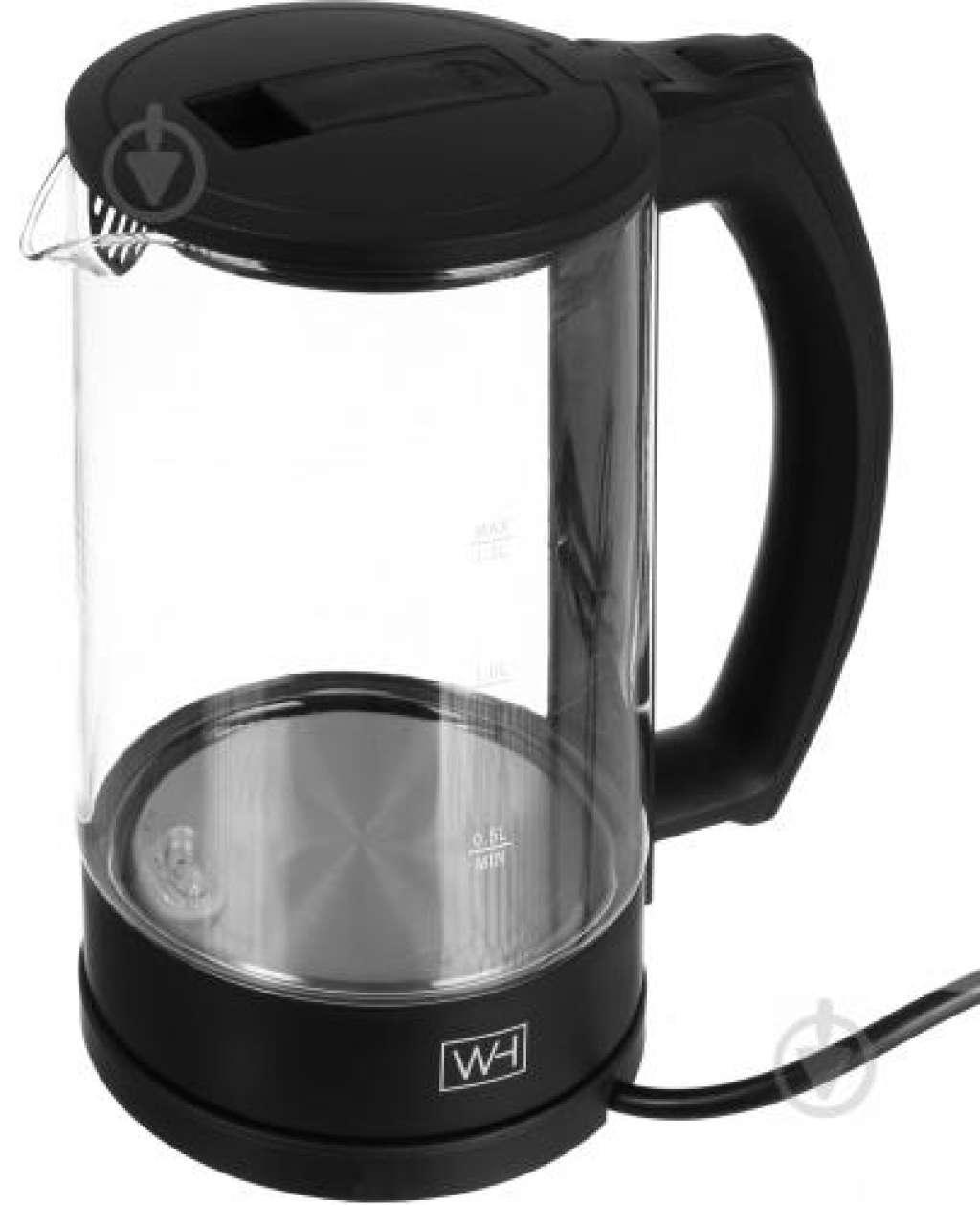 Електрочайник Water House EK1580:   Безкоштовна доставка    Тип: звичайний  Особливості: автоматичне відключення  Потужність: 2200 Вт  Об'єм: 1,5 л  Колір: чорний
