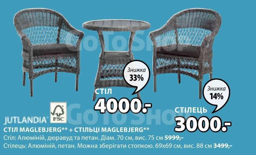 Садовые столы, Садовые стулья