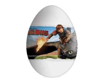 """Яйце шоколадне Dream Works """"Як приборкати дракона"""" з сюрпризом, 20г"""