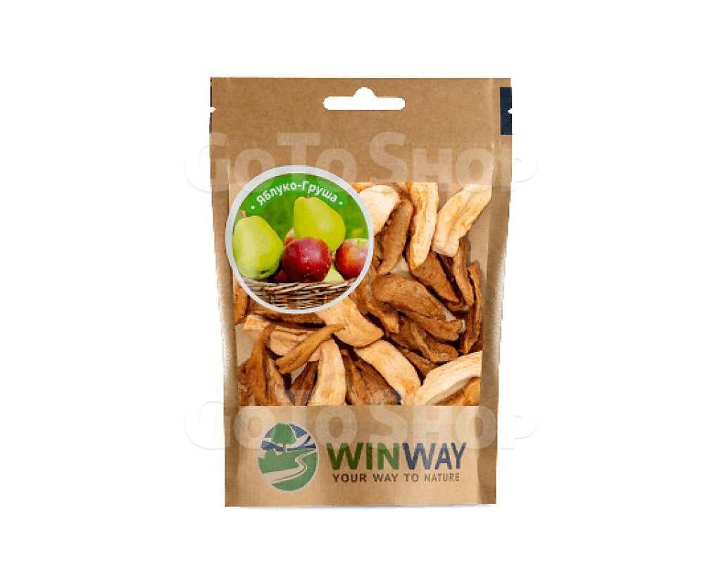 Яблука та груші Winway сушені без цукру, 50г