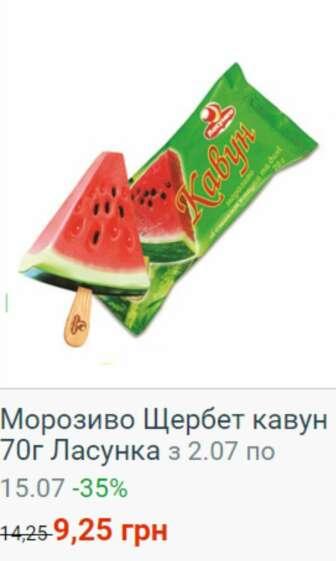Морозиво, заморожений йогурт, фруктовий лід