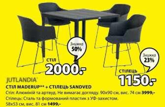 Садові столи, Садові стільці