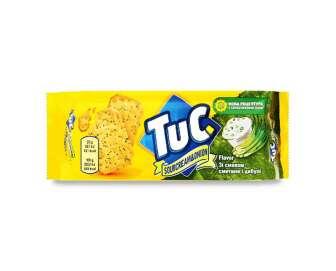 Крекер Tuc солоний зі сметаною та цибулею, 100г