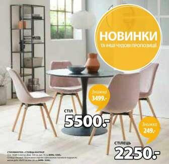 Кухонні та столові стільці, Кухонні, обідні та журнальні столи