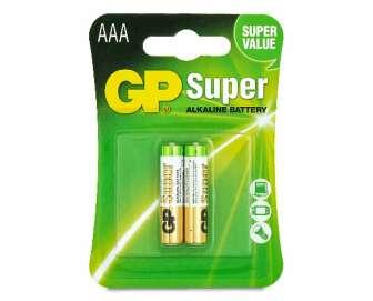 Батарейки GP SUPER ALKALINE 1.5V LR03 AAА, 2шт/уп