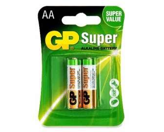 Батарейки GP SUPER ALKALINE 1.5V LR6 AA, 2шт/уп