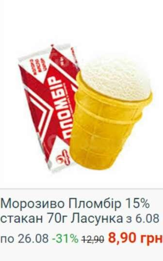 Мороженое, замороженный йогурт, фруктовый лед