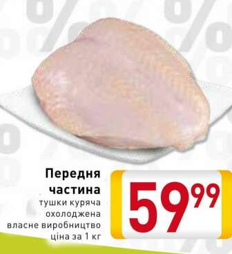 Свіже та заморожене м'ясо