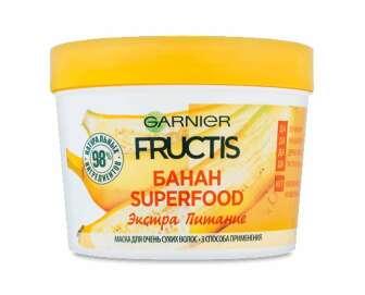 "Маска Fructis SupFood ""Банан"" для сухого волосся ТМ Garnier, 390мл"