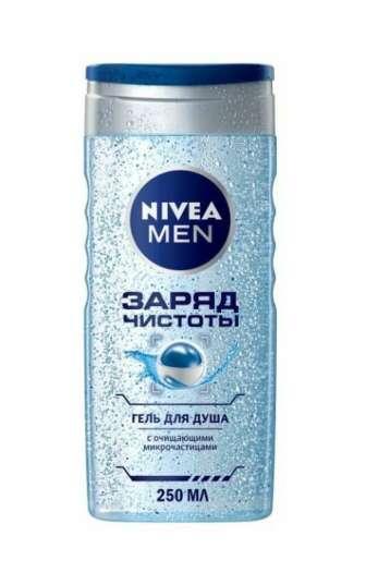 Гель для душу Nivea Men 250 мл Заряд чистоти чоловічий з очищаючими мікрочастинками, 250 мл