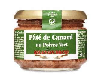 Паштет Relais Gourmand з качки з зеленим перцем, 180г